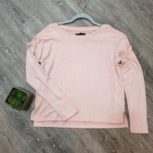 Abercrombie & Fitch Cold Shoulder Top Blush Pink S